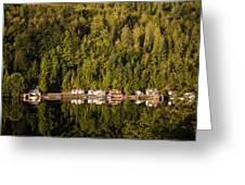 Reflections Of Snug Harbor, Wa Greeting Card