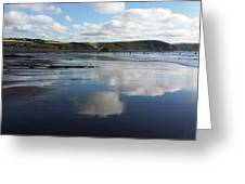 Reflections Of Widemouth Bay Greeting Card