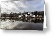 Reflections Of Winter Flood Greeting Card