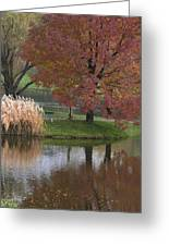 Reflections On A Fall Day Greeting Card