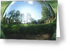 Reflections On A Steel Sphere Greeting Card