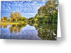 Reflections On Cibolo Creek Greeting Card