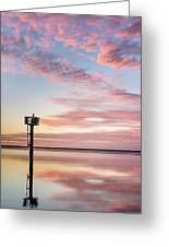 Reflections On Falling Dusk Greeting Card