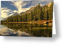 Reflections On Jenny Lake Greeting Card