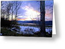 Reflections On Lake Okanagan Greeting Card