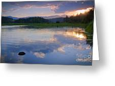 Reflections On Mica Bay Greeting Card