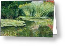 Reflections On Monets Lily Pond Greeting Card