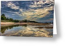Reflections On The Beach Greeting Card