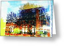 Reflections On The Old Depot Greeting Card