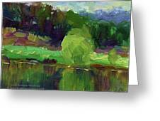Reflections Painting Study By Svetlana Greeting Card