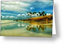 Reflective Beach Greeting Card