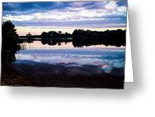 Reflective River  Greeting Card