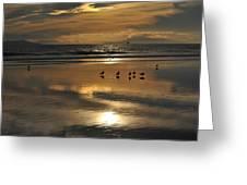 Reflective Sunset Greeting Card