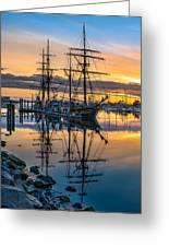 Reflectons On Sailing Ships Greeting Card