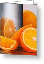 Reflet Orange Greeting Card