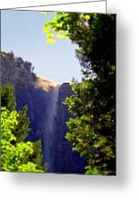 Refreshing The Soul - Bridalveil Yosemite Greeting Card