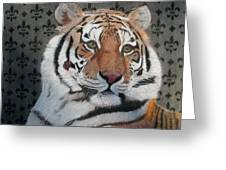 Regal Tiger Greeting Card