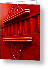 Regally Red Greeting Card