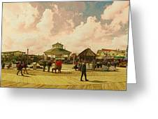 Rehoboth Beach In Fall Greeting Card