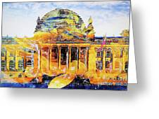 Reichstag And Flower Greeting Card