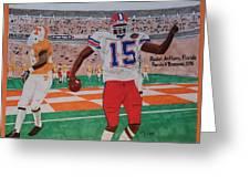 Florida - Tennessee Football Greeting Card