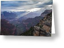 Reign Of Light Over The Canyon Greeting Card