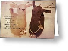 Reindeer Joys Quote Greeting Card