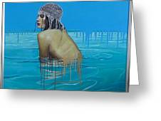 Rela In The Sea Greeting Card