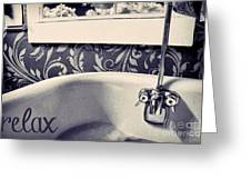 Relax In Blue Greeting Card