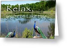 Relax Lake Time-jp2737 Greeting Card