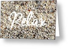 Relax Seashell Background Greeting Card