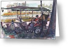 Relaxed Tuk Tuk In Phnom Penh Greeting Card
