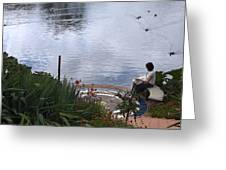 Relaxing By The Lake Greeting Card