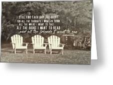 Relaxing On The Cape Quote Greeting Card