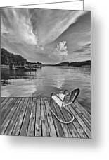 Relaxing On The Dock Greeting Card