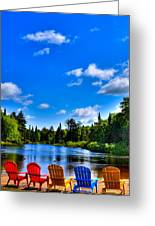 Relaxing On The Moose River Greeting Card