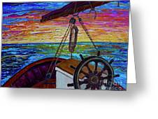 Release The Sails Greeting Card by Jacqueline Athmann
