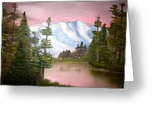 Relections In Pink Greeting Card