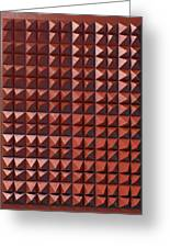 Relief C2 Red Metallic Greeting Card