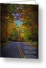 Relief Road  Blue Ridge Parkway Greeting Card by John Haldane