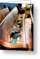 Religion Abandonded Greeting Card