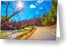 Reluctant Ontario Spring 3 - Paint Greeting Card