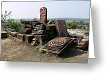 Remains At Bhojpur Greeting Card