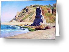 Remains Of Ancient Constructions On Seacoast  Greeting Card