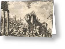 Remains Of The Temple Of Castor And Pollux Greeting Card
