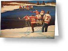 Rematch 2010 - The Bullies Are Back Greeting Card by Ron  Genest
