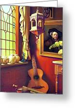 Rembrandt's Hurdy-gurdy Greeting Card