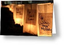 Rememberance Of Life - Luminaries At Relay Greeting Card