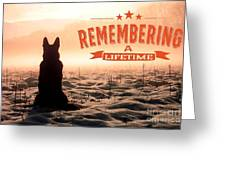Remembering A Lifetime Greeting Card by Kathy Tarochione
