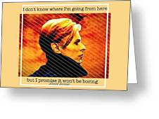 Remembering David Bowie Greeting Card
